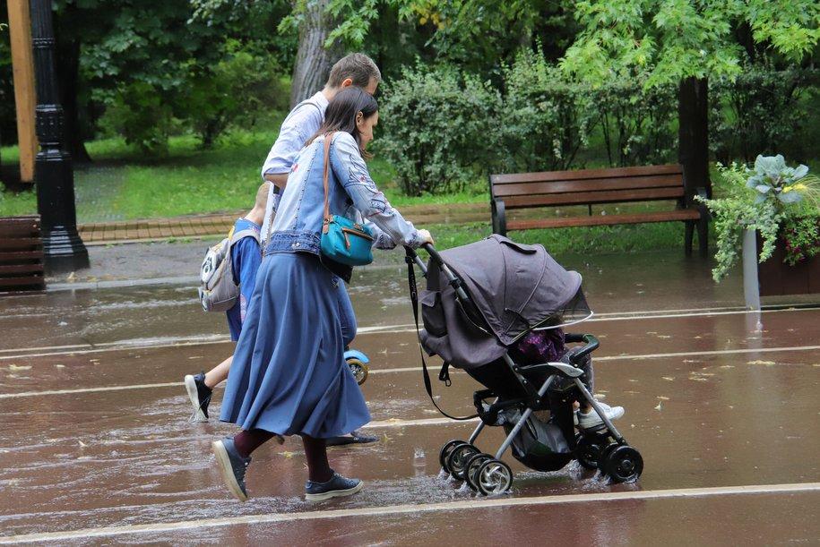 Дождливый июль является нормой для Москвы