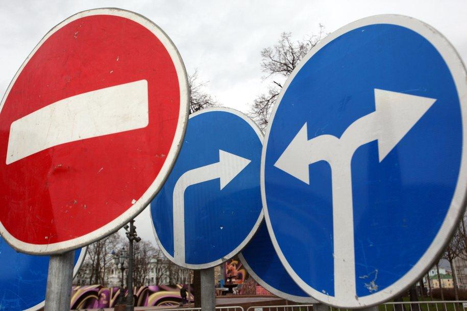 В эти выходные на ряде улиц изменится схема движения транспорта