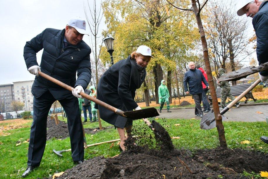 В Москве высадят именные деревья