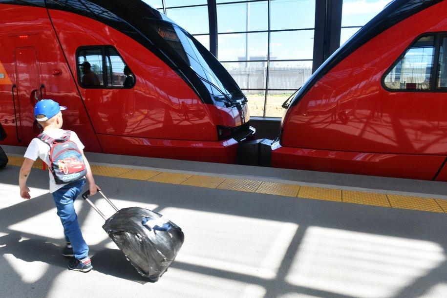 Брендированный поезд МЦД запущен в московском метро