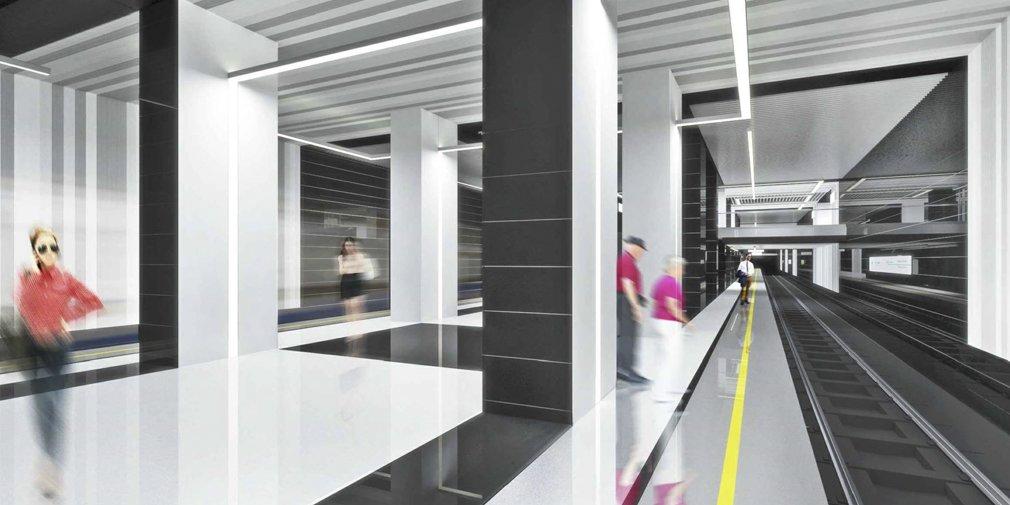 Станцию «Лефортово» БКЛ метро стилизуют под гравюры ХVII-XVIII веков