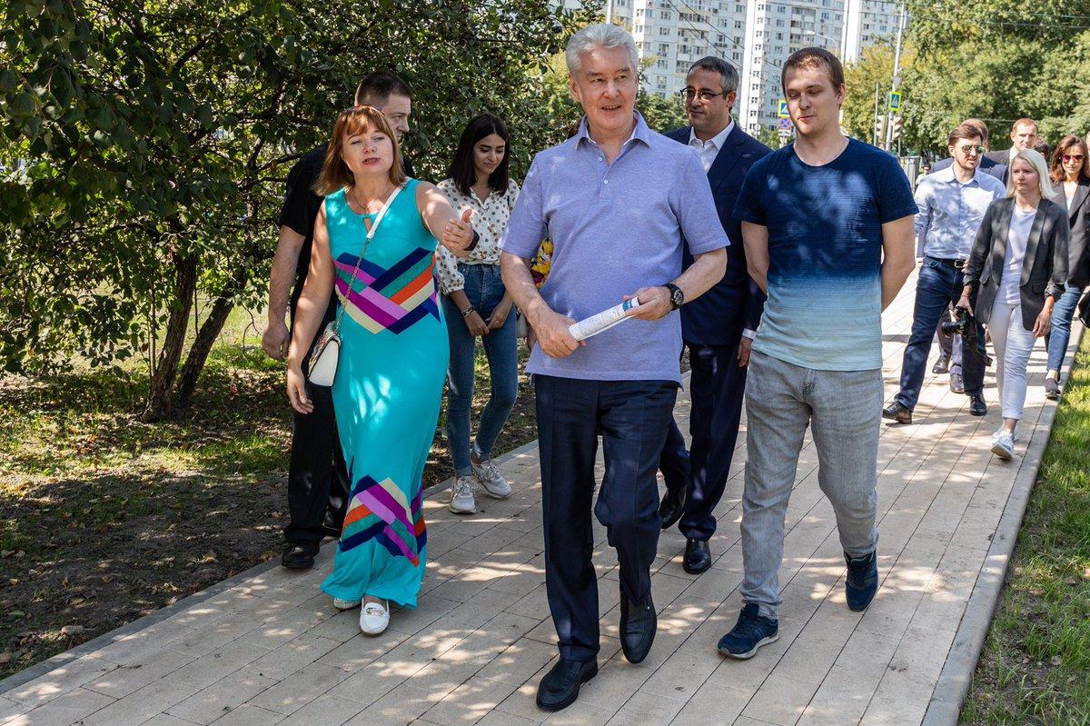 Сергей Собянин рассказал о процессе благоустройства поймы реки Яузы