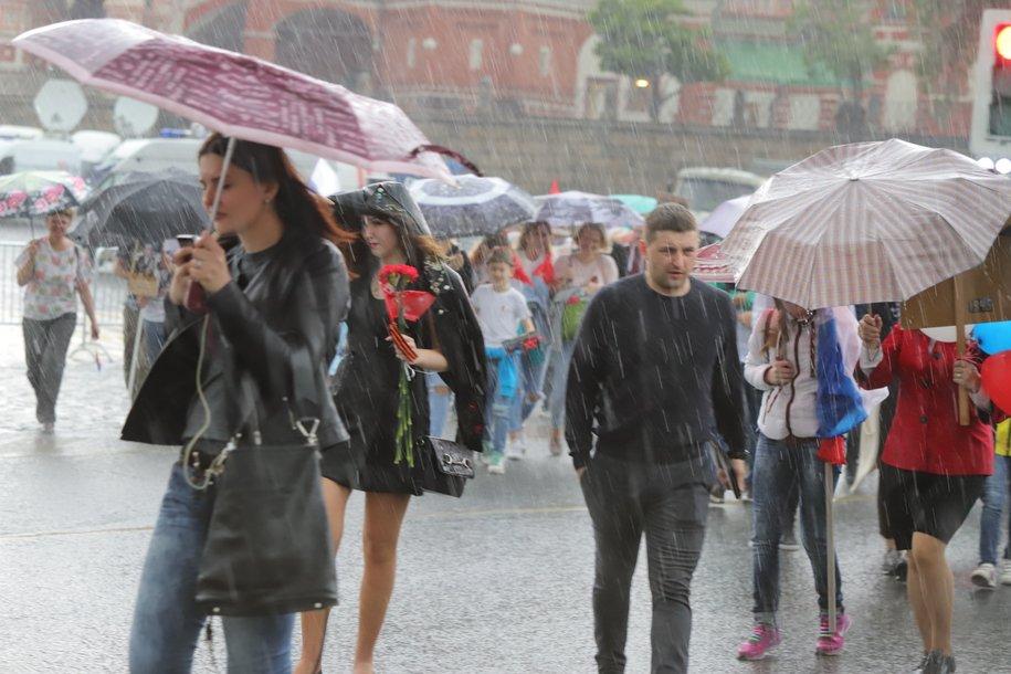 Ливневые дожди и сильный ветер ожидается в четверг вечером