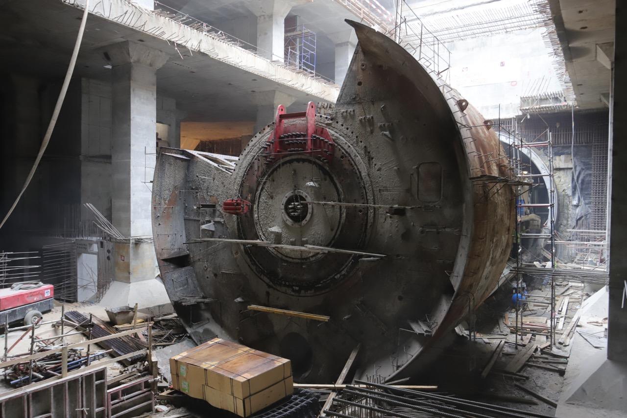 Станция «Марьина Роща» БКЛ готова на 50%