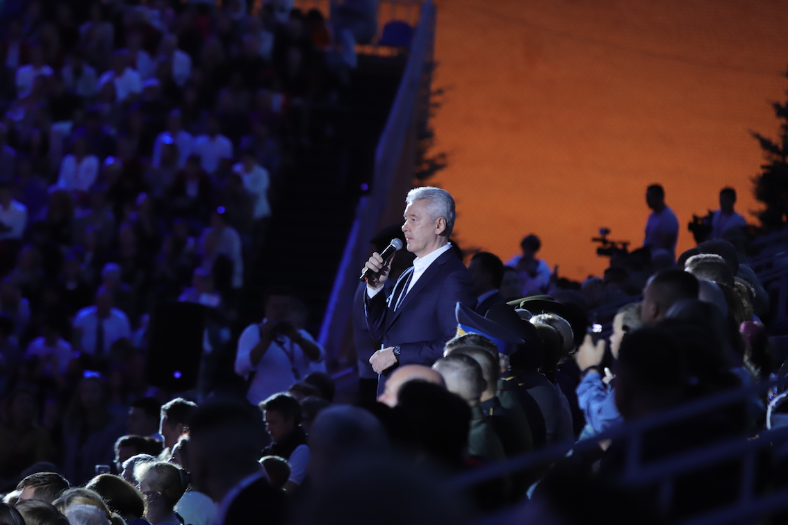 Сергей Собянин поприветствовал участников военно-музыкального фестиваля «Спасская башня»
