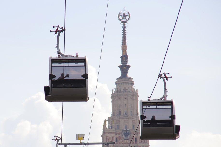 Московская канатная дорога временно закрыта из-за усиления ветра