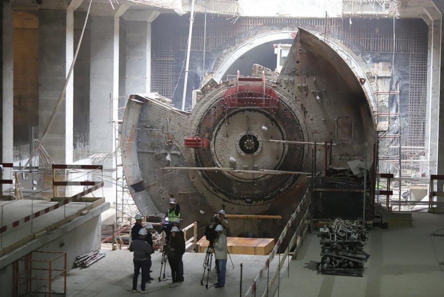 Тоннелепроходческий щит на БКЛ пройдет сквозь две строящиеся станции без демонтажа