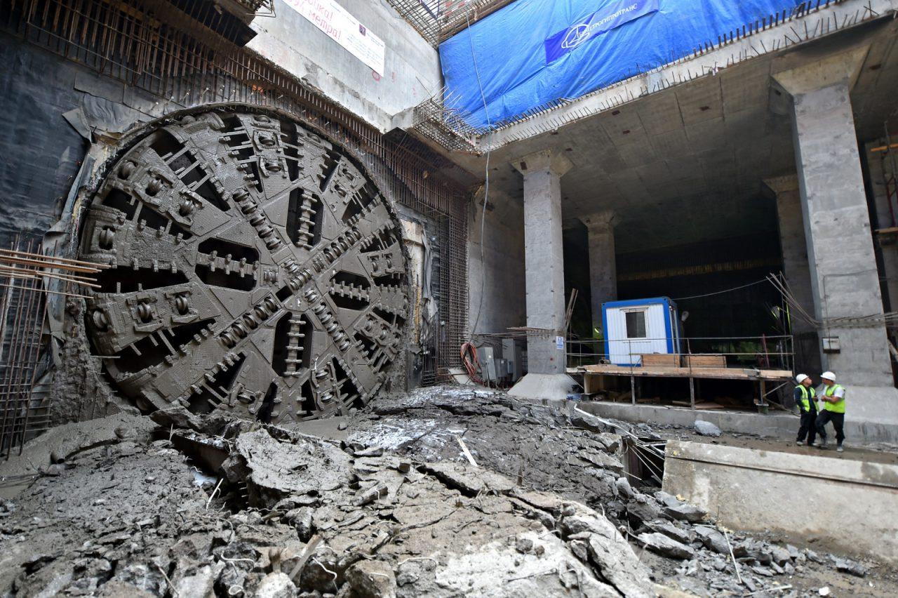 С начала года в Москве ввели почти 20 км тоннелей метро и 8 станций
