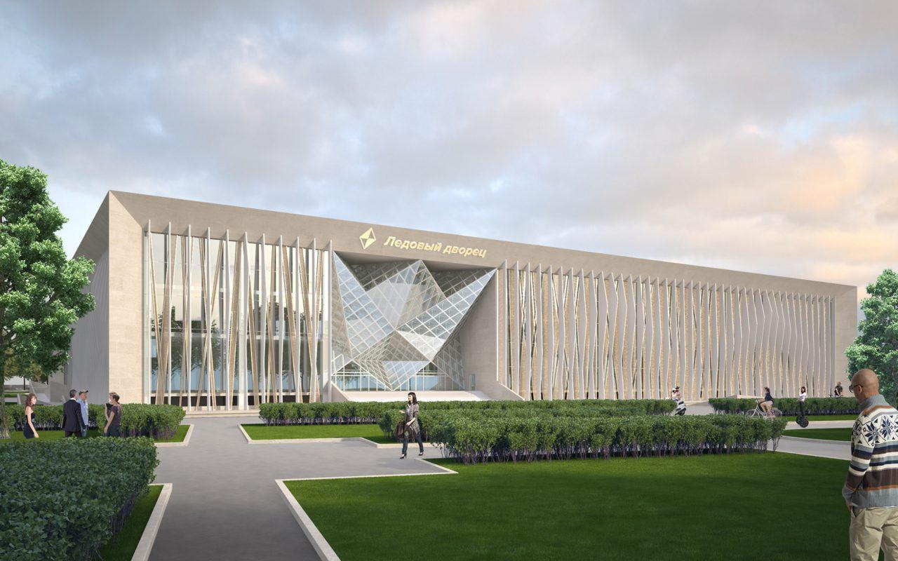 Хуснуллин: готова крыша ледового дворца «Кристалл» в Лужниках