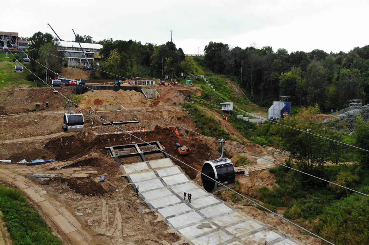 Эскалаторную галерею к спорткластеру «Воробьевы горы» запустят в 2021 году