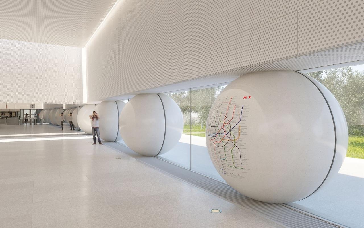 В московском метро появится «фарфоровая» станция