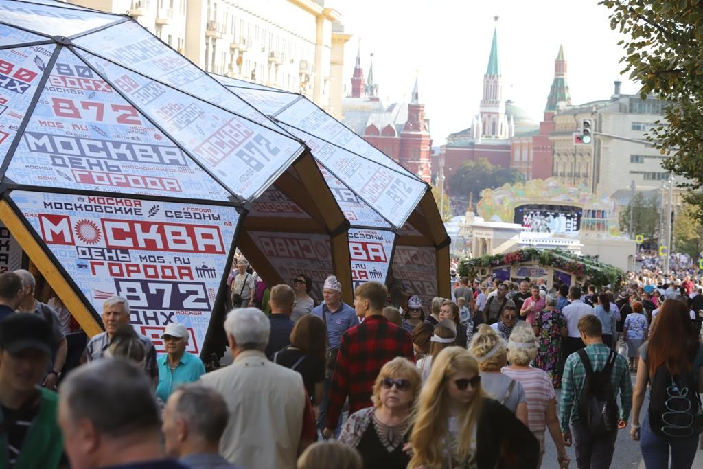 В праздновании Дня города приняли участие более 7,4 миллиона человек