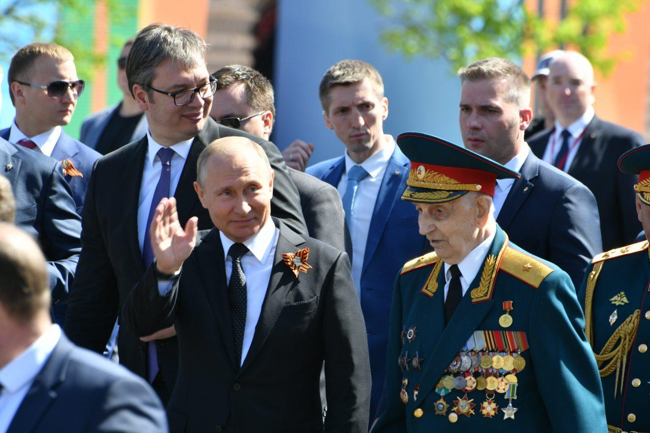 Владимир Путин поздравил москвичей с Днём города