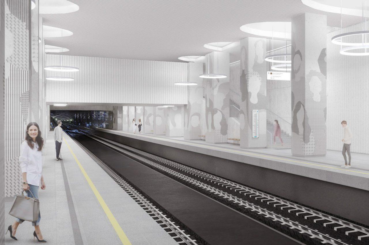 На станции «Мнёвники» БКЛ появятся авторские колонны
