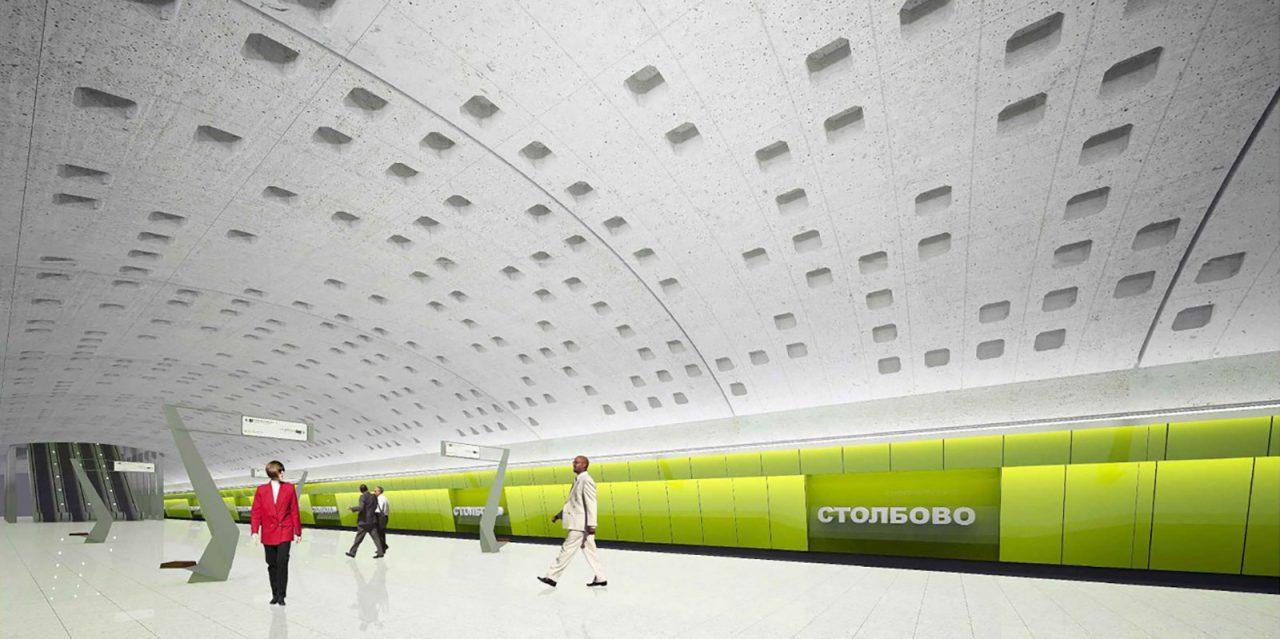 Станцию метро «Коммунарка» выполнят в современном стиле биотек
