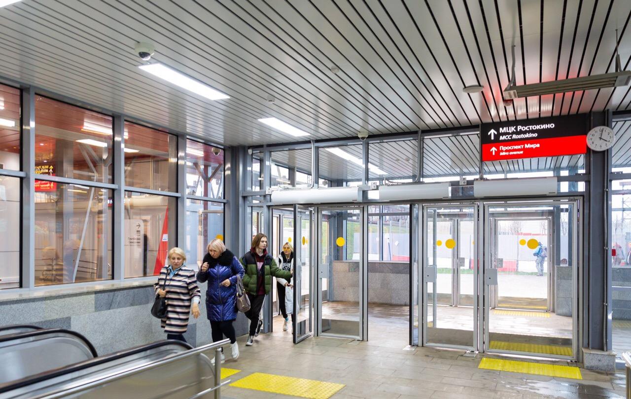 Пассажиропоток станции МЦК «Ростокино» составляет 26 тысяч человек — Собянин