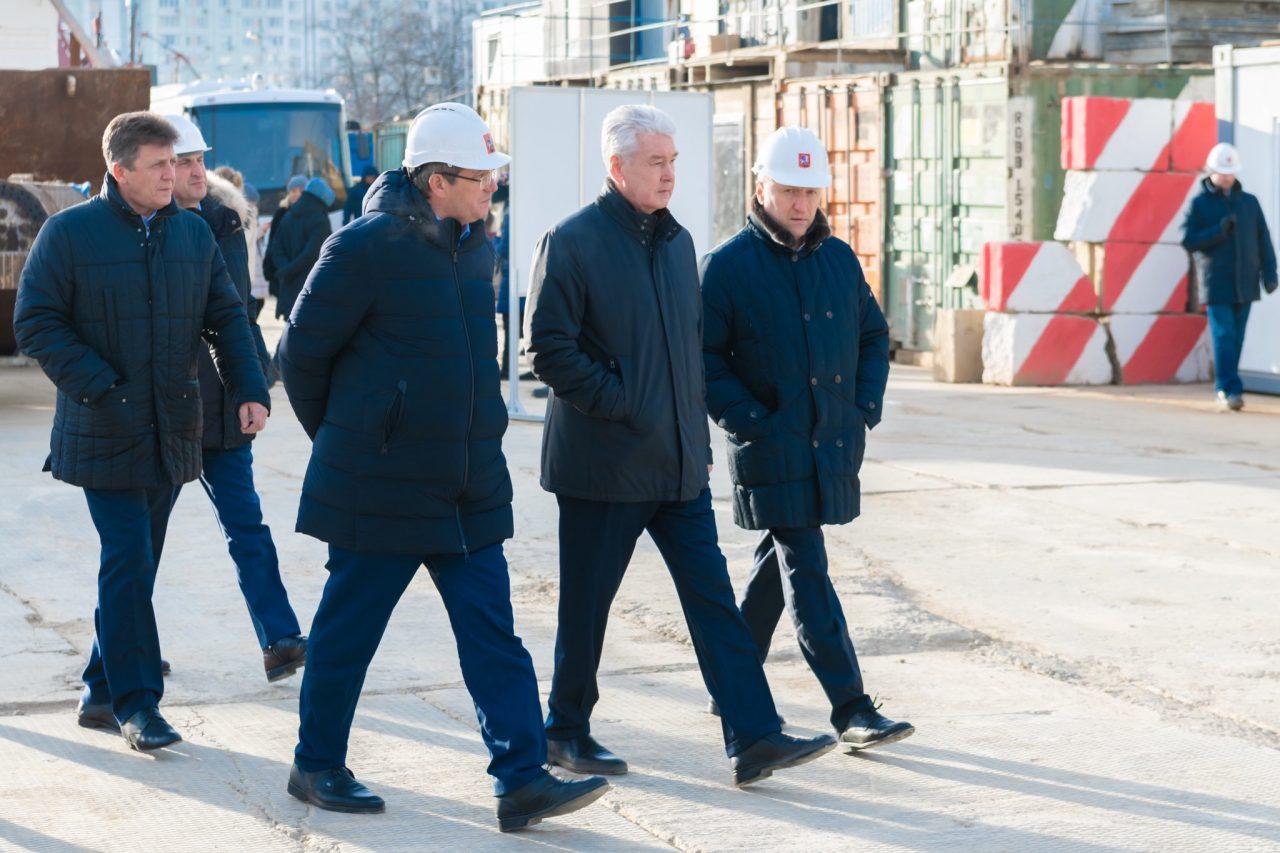 Сергей Собянин посетил строящуюся станцию метро «Университет Дружбы Народов»