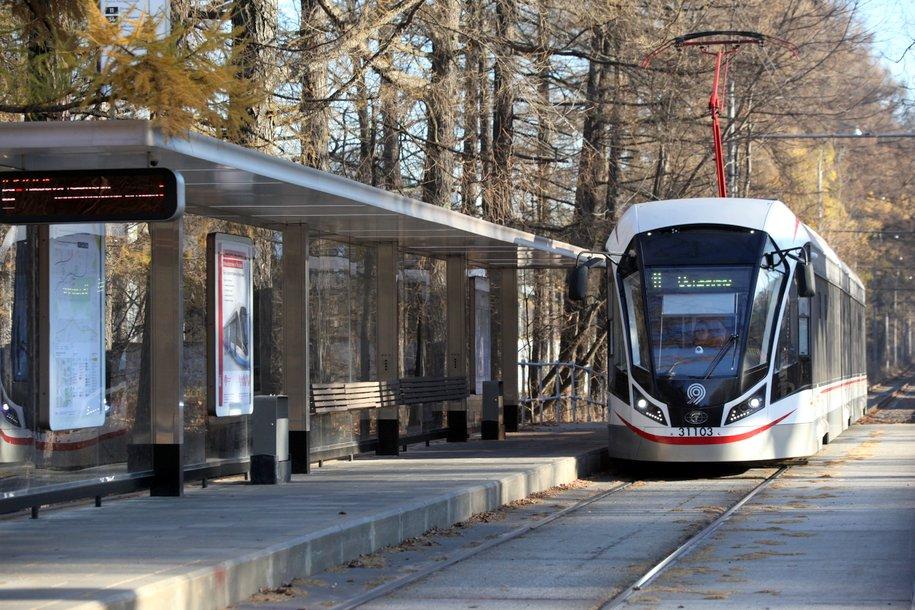 Режим работы трамваев в районе станции метро «Бульвар Рокоссовского» изменится с 23 ноября
