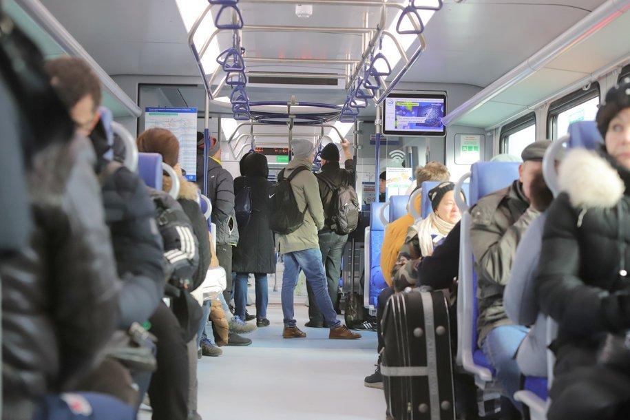 Сегодня утром поездами МЦД воспользовалось рекордное количество пассажиров