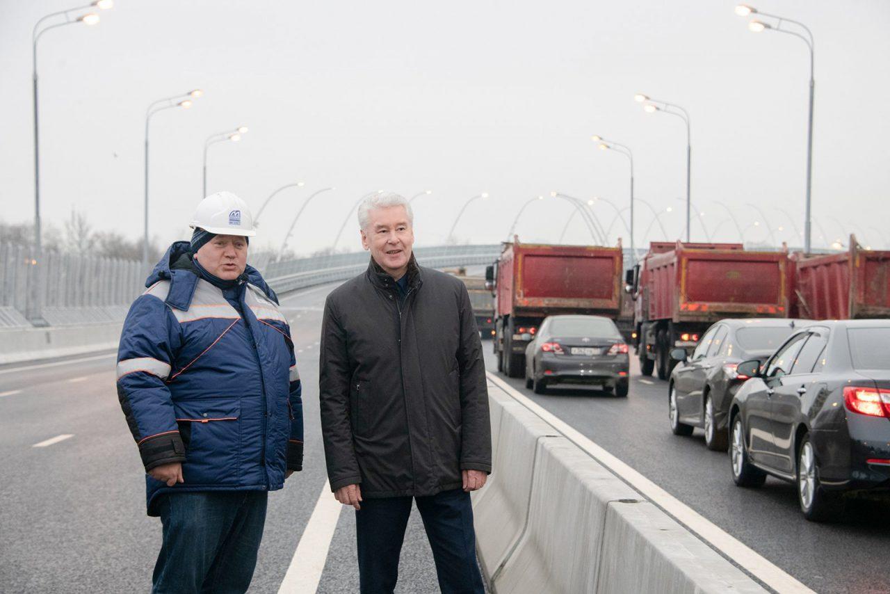 Сергей Собянин открыл мост через Канал имени Москвы