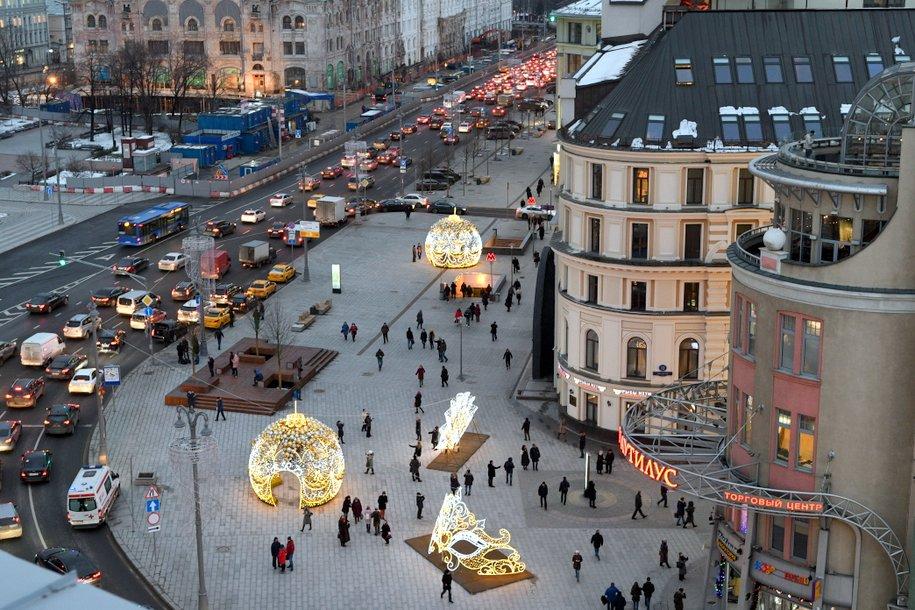 К Новому году в центре Москвы установят контрольно-пропускные пункты