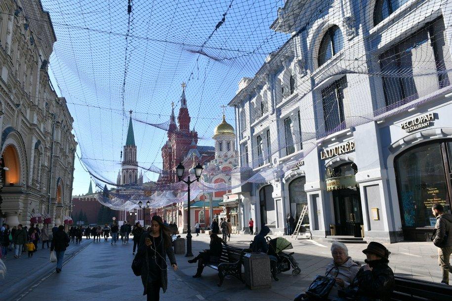 Сергей Собянин открыл после реконструкции пешеходный переход от площади Революции на ул. Никольская