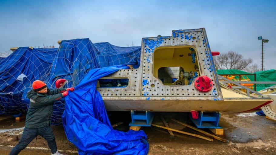 Тоннелепроходческий щит «Победа» доставлен на стройплощадку БКЛ