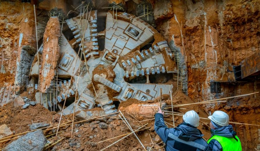 Щит-гигант «Победа» доставлен на стройплощадку БКЛ