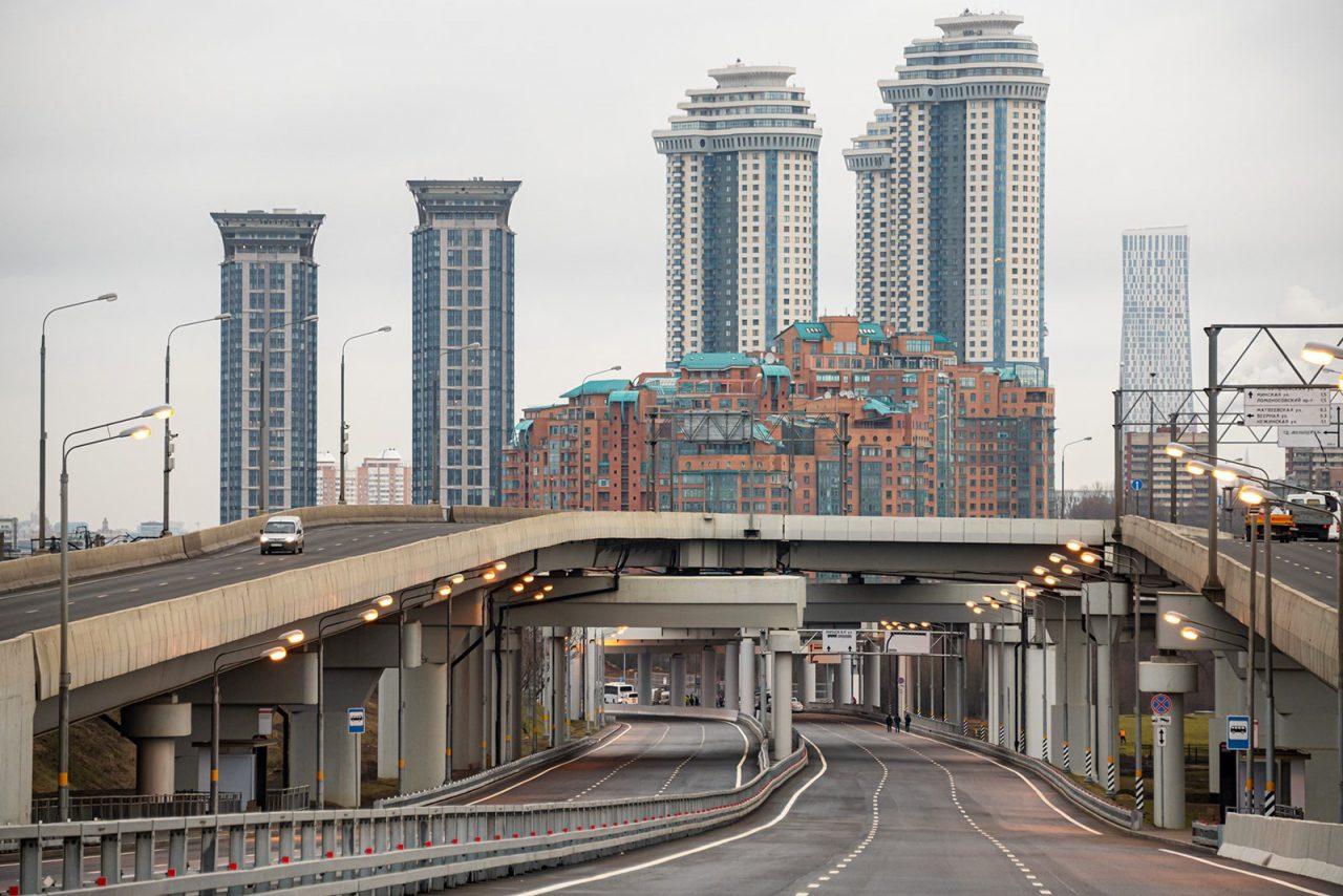 Новая вылетная магистраль улучшит дорожную ситуацию на западе Москвы