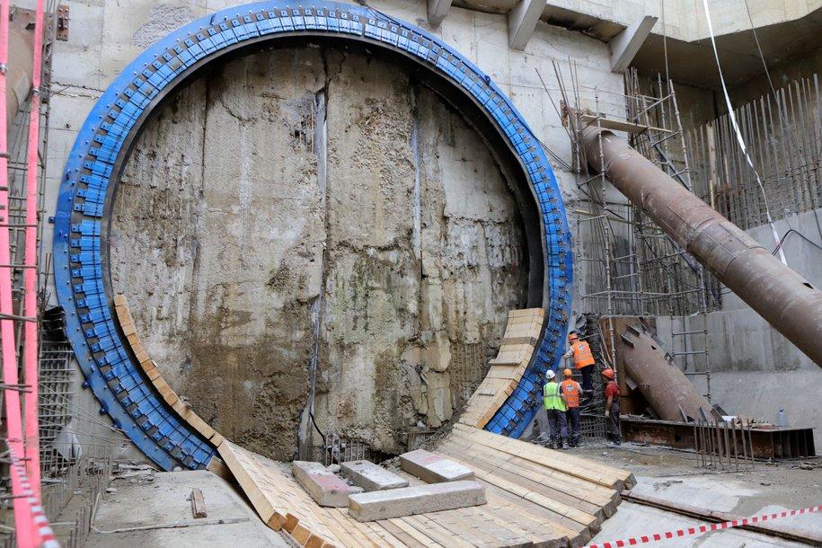 Сергей Собянин дал старт проходке двухпутного перегонного тоннеля на БКЛ
