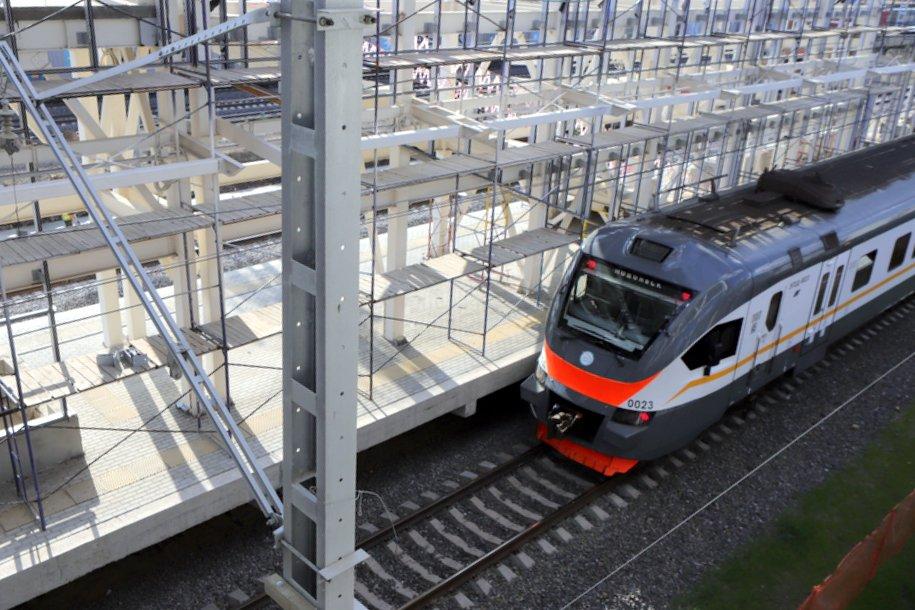 Сергей Собянин открыл новую станцию «Остафьево» на МЦД-2