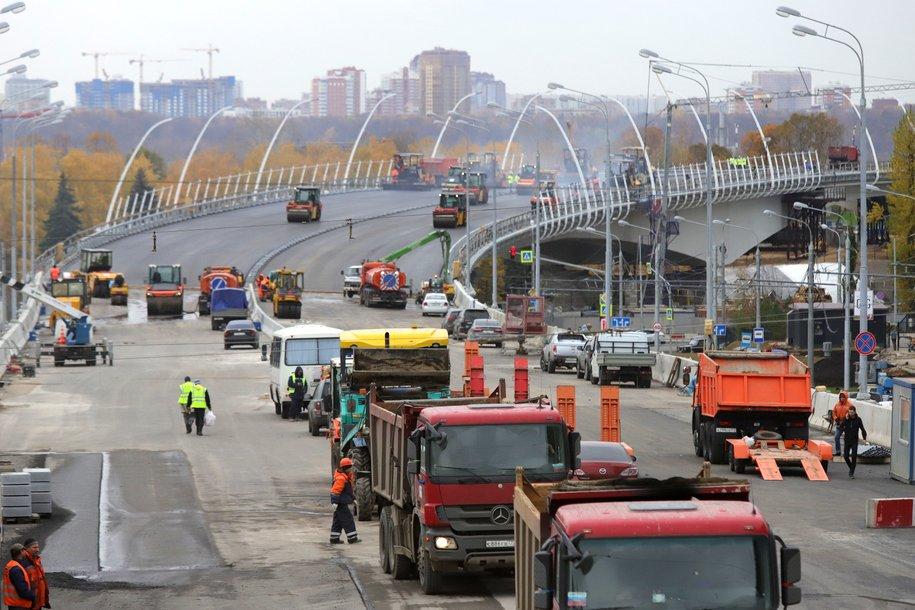 Реконструкцию пяти развязок на МКАД планируется завершить в течение ближайших трех лет