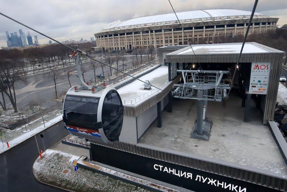 Московская канатная дорога изменит график работы 23 февраля из-за праздничных мероприятий в «Лужниках»
