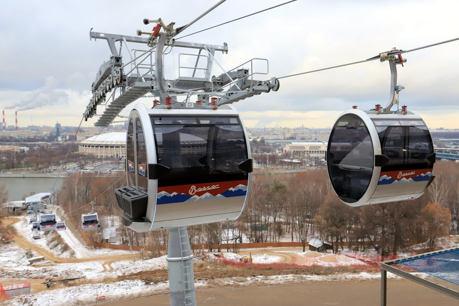 Московская канатная дорога сделает мужчинам скидку 23% в День защитника Отечества