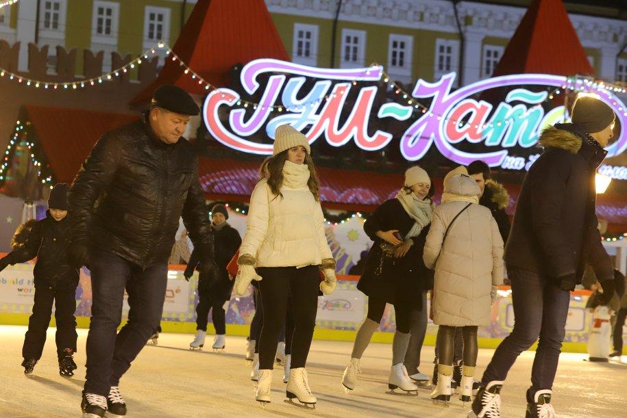 ГУМ-каток закрыли по 10 февраля из-за проведения этапа мирового турнира по керлингу