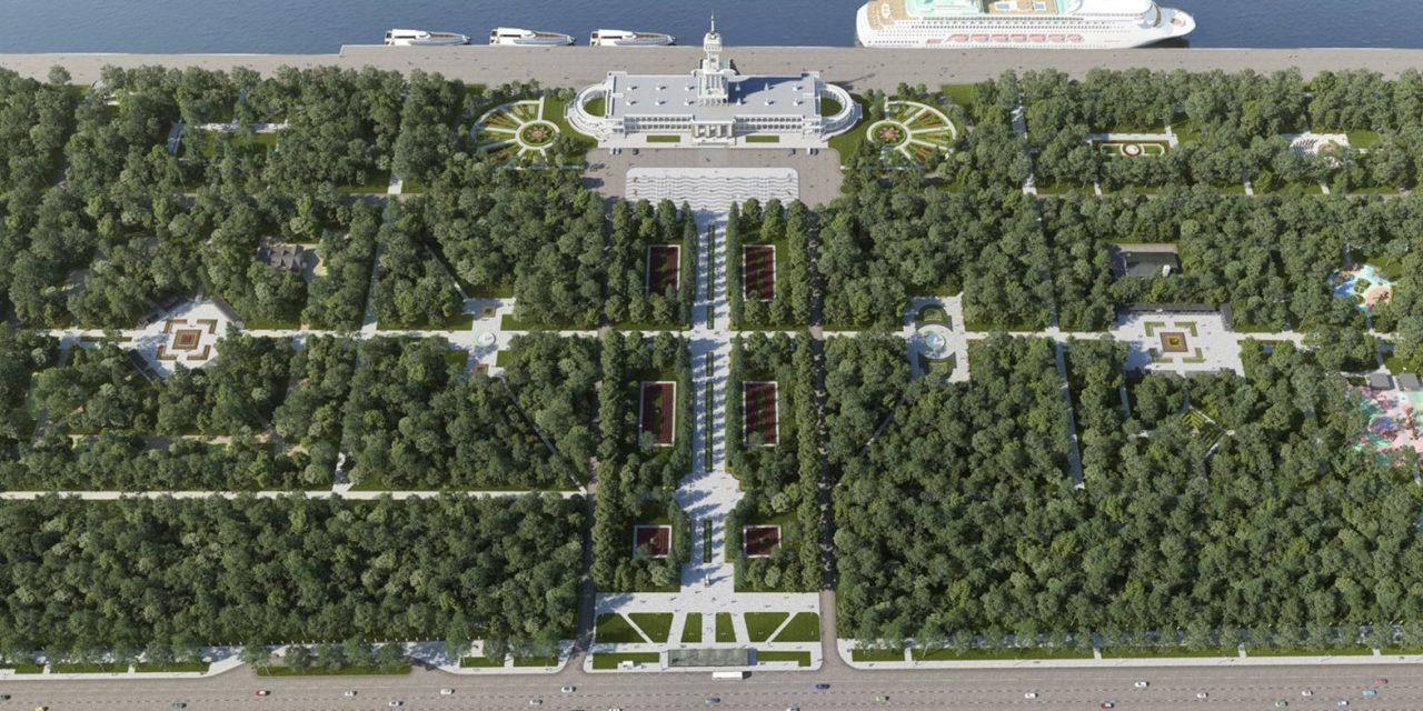 Благоустройство парка Северного речного вокзала завершится до 1 сентября