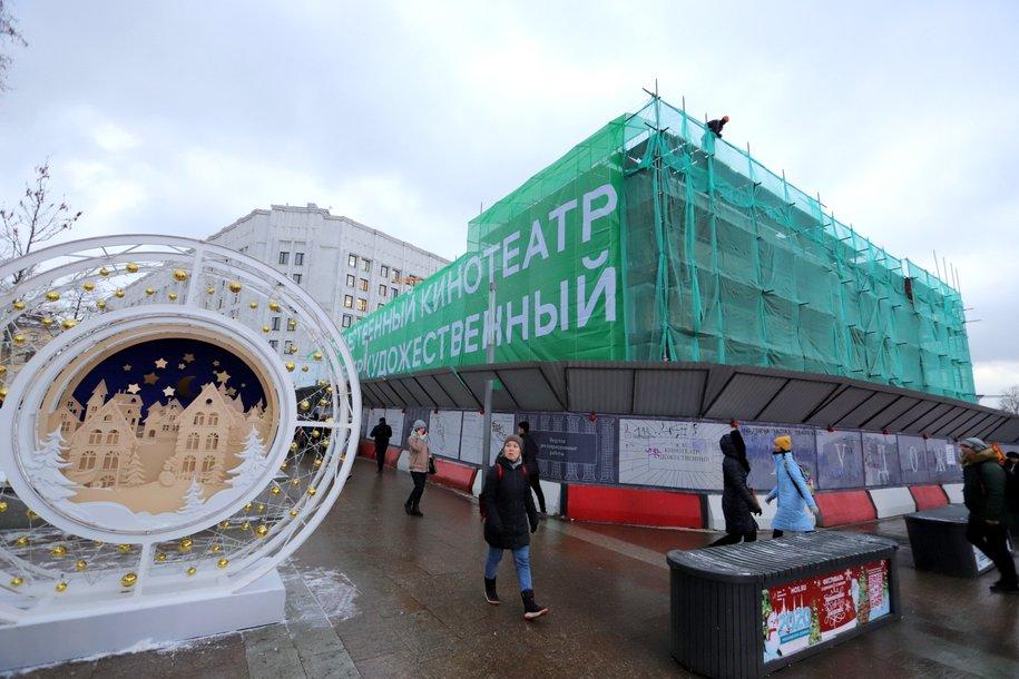 Работы по реставрации лепнины кинотеатра «Художественный» завершены на 80%