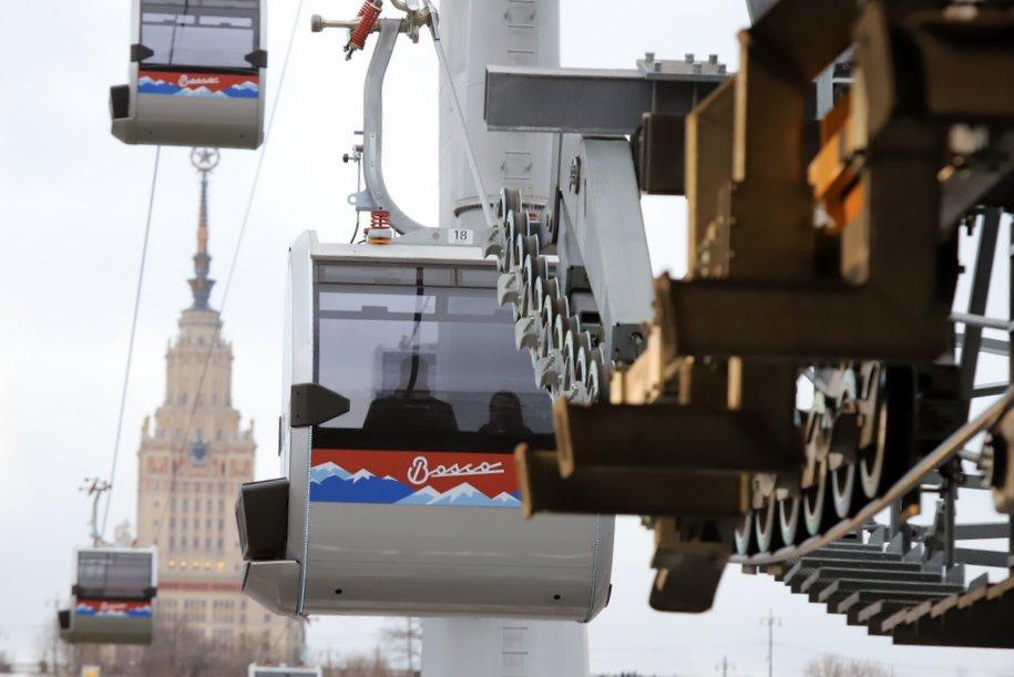 Почти 3 тыс. женщин воспользовались Московской канатной дорогой 8 марта
