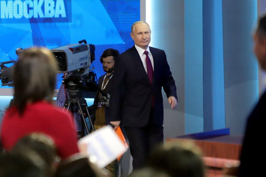 Владимир Путин посетил больницу с больными Covid-19 в Коммунарке