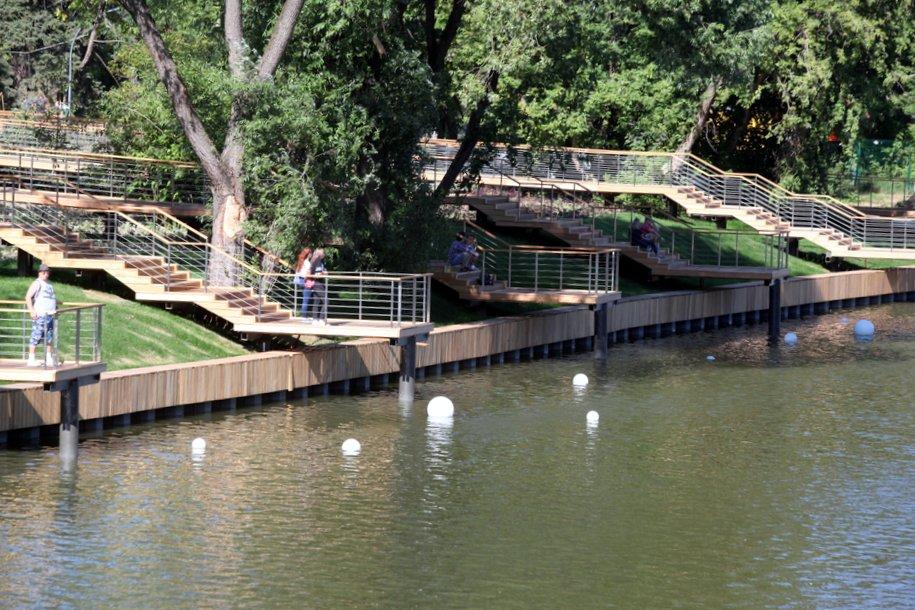 К концу 2022 года на Семеновской набережной построят пешеходный мост через Яузу