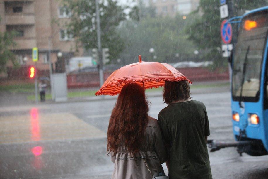 МЧС предупредило москвичей о сильном дожде, грозе и порывах ветра до 18 м/c до конца воскресенья