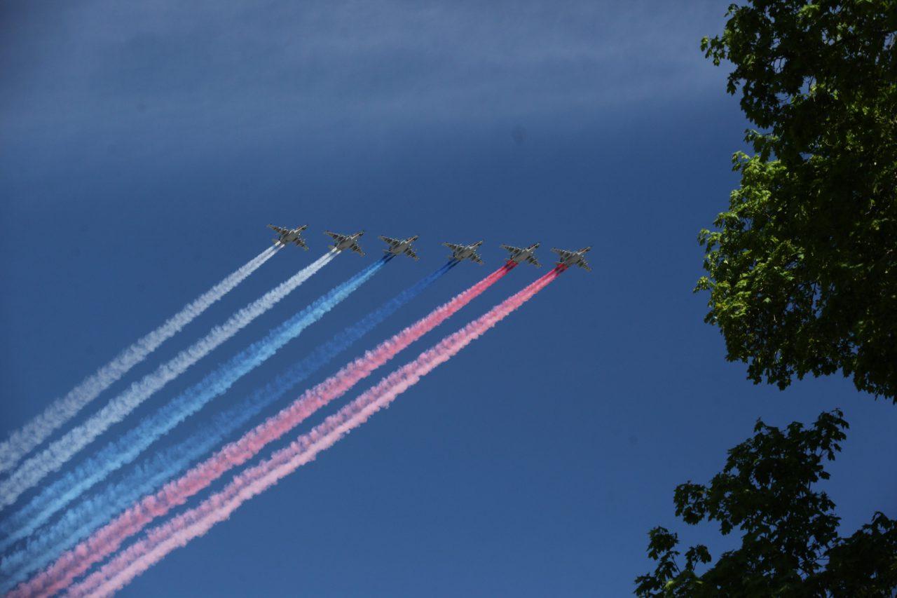 В Москве завершилась воздушная часть Парада Победы