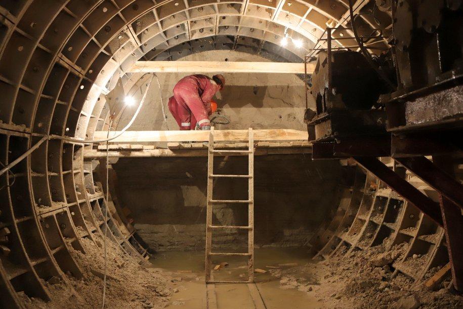 Началось строительство тоннеля между Большой кольцевой и Коммунарской линиями метро