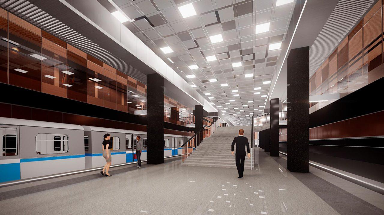Монтаж эскалаторов начался на станции «Проспект Вернадского» Большой кольцевой линии метро