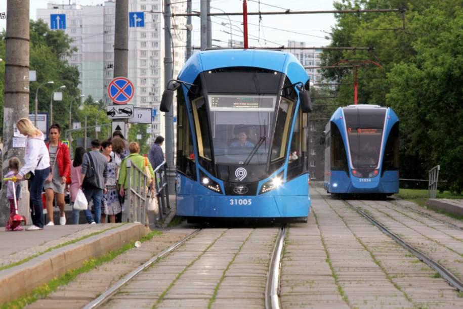 В Москве обособлено около 75% трамвайных путей