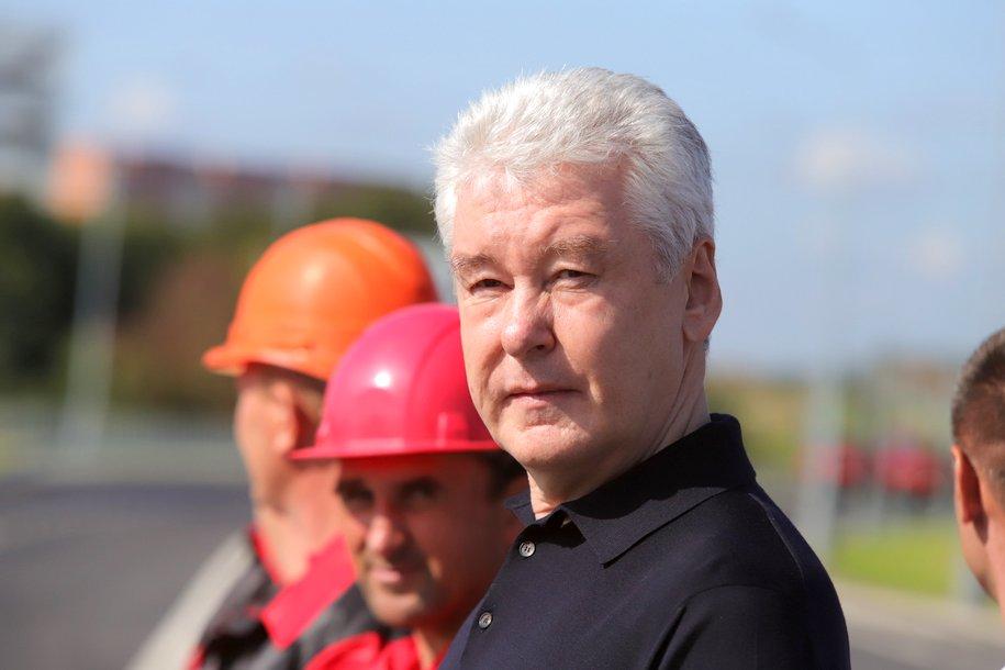 Сергей Собянин осмотрел ход строительства станции мосметро «Мамыри»