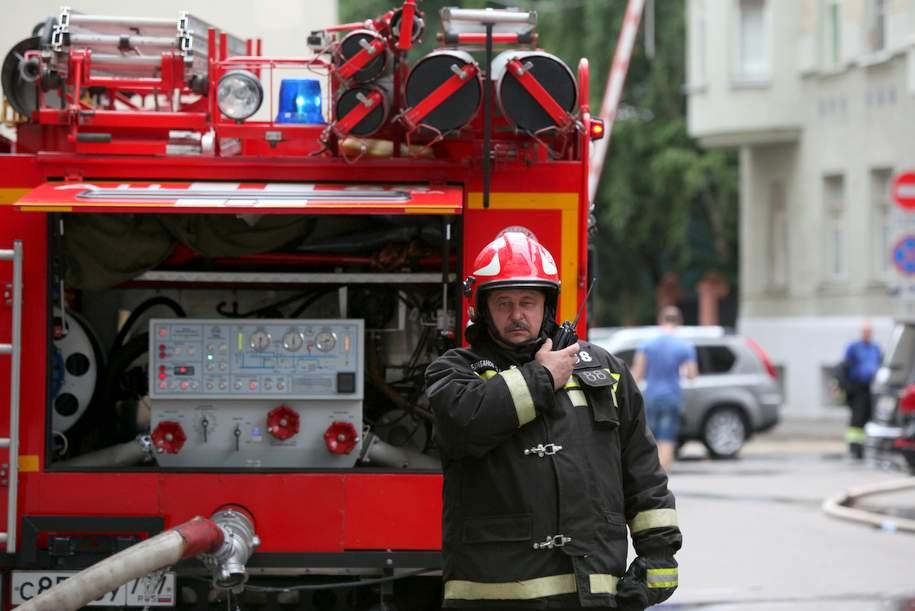 В старинном здании на Тверской улице произошёл пожар