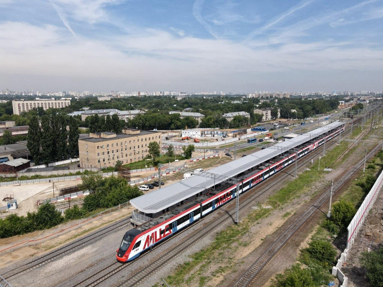 В столице открылась новая станция «Курьяново» МЦД-2