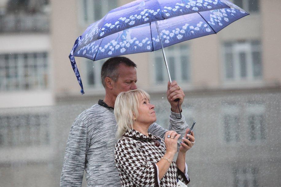 В Москве из-за дождя объявлен «жёлтый» уровень погодной опасности