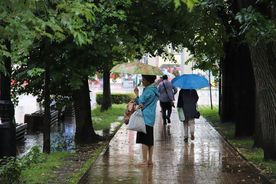 Сильный дождь, гроза и град ожидаются в Москве до конца дня